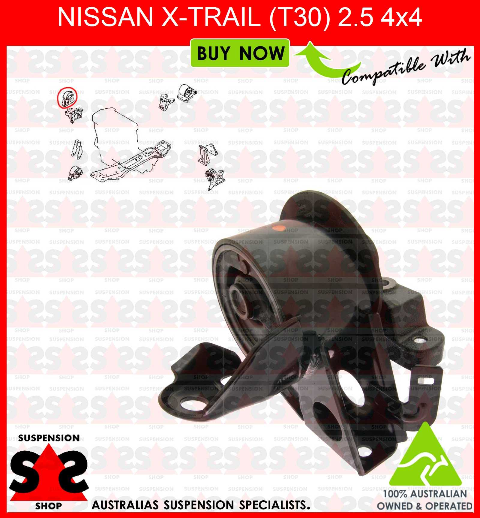 Engine Mount Suit Nissan X Trail T30 25 4x4 Ebay Xtrail Offroad Modified Image Is Loading 2